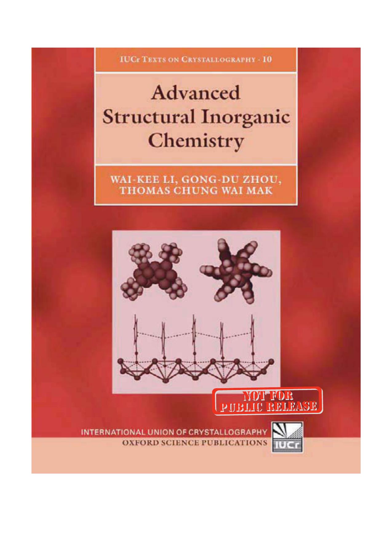 45a87e2115 Advanced Structural Inorganic Chemistry (International Union of