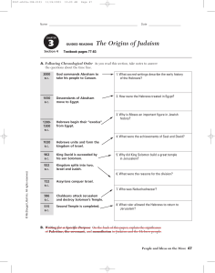 GUIDED READING The Origins of Judaism
