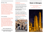 Duke in Bologna - Duke Global Education