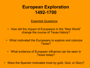 Chapter 5 European Exploration 1492-1700