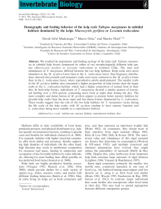 Demography and feeding behavior of the kelp crab Taliepus