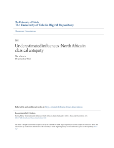 Underestimated influences :North Africa in classical antiquity