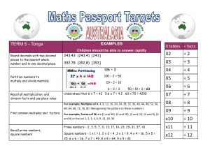 Targets Term 5 - South Marston C of E School