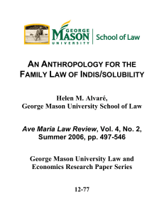 AN ANTHROPOLOGY FOR THE FAMILY LAW OF INDIS