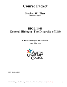 Course Packet - Austin Community College