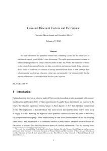 Criminal Discount Factors and Deterrence