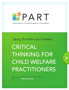critical thinking for child welfare practitioners