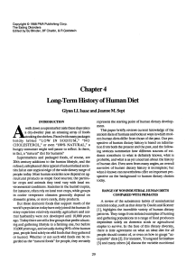 Chapter 4 Long-Term History of Human Diet