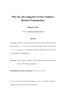 Why Do All Composite Fermat Numbers Become