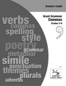Great Grammar Commas - The Described and Captioned Media