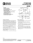 AD7899 5 V Single Supply 14-Bit 400 kSPS ADC