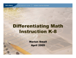 Differentiating Math Instruction K-8