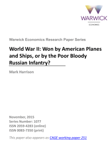 World War II: Won by American Planes and Ships, or by the Poor