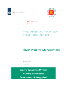 River System Management - Bangladesh Delta Plan 2100