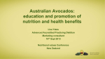 Australian Avocados: education and promotion of nutrition and