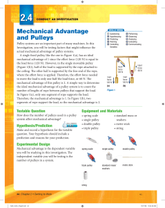 Mechanical Advantage and Pulleys