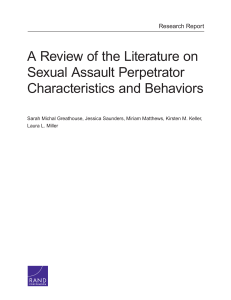 A Review of the Literature on Sexual Assault Perpetrator