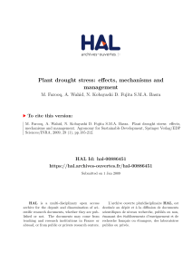 Plant drought stress: effects, mechanisms and management