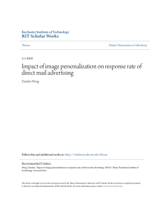 Impact of image personalization on response rate of direct mail