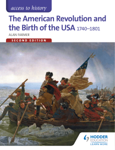 The American Revolution and the Birth of the