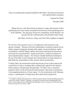 Essay on comparing the analytical methods in Karl Marx