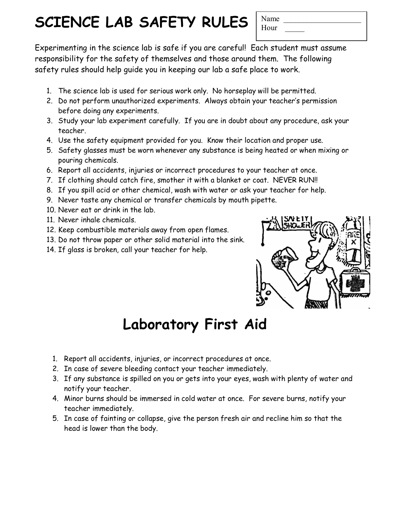 science lab safety rules worksheets science best free printable worksheets. Black Bedroom Furniture Sets. Home Design Ideas