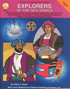 Explorers workbook - Franklin Township Public Schools