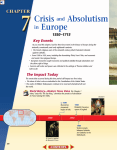Crisis and Absolutism Europe
