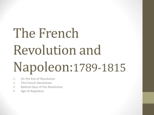 The French Revolution and Napoleon:1789-1815
