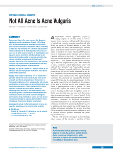 Not All Acne Is Acne Vulgaris
