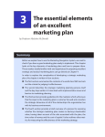 3 The essential elements of an excellent marketing plan