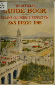 Official guide book of the Panama-California exposition, giving in