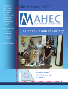 The Mid-Missouri Area Health Education Center Science Resource