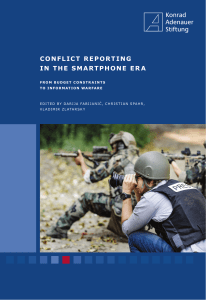 conflict reporting in the smartphone era - Konrad-Adenauer