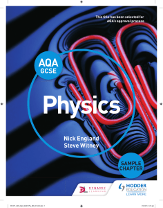 AQA GCSE Physics Sample Pages