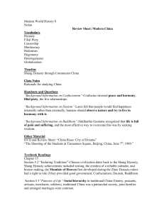 Modern World History 8 Nolan Review Sheet: Modern China