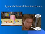 Types of Chemical Reactions (rxns.)