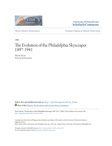 The Evolution of the Philadelphia Skyscraper 1897-1941