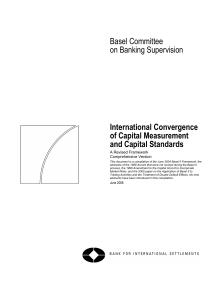 International Convergence of Capital Measures and Capital