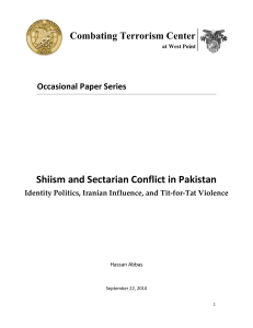 Shiism and Sectarian Conflict in Pakistan