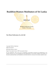 Buddhist Women Meditators of Sri Lanka