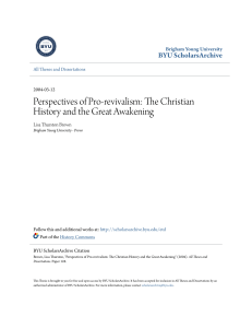 Perspectives of Pro-revivalism: The Christian