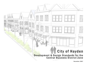 Hayden Central Business District Proposed Design