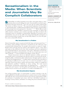 Sensationalism in the Media: When Scientists and Journalists