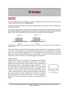 Friction - Fiitjee