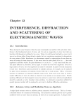 interference, diffraction and scattering of electromagnetic waves