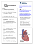 Anatomy: The Cardiovascular System Part (Chapter 6)
