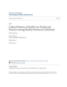 Cultural Patterns of Health Care B eliefs and Practices among