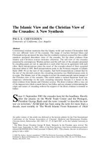 The Islamic View and the Christian View of the Crusades: A New