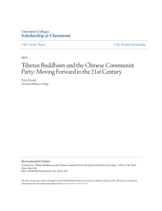 Tibetan Buddhism and the Chinese Communist Party: Moving